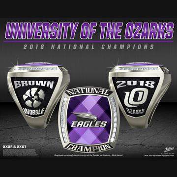 University of the Ozarks Women's Shooting 2018 National Championship Ring