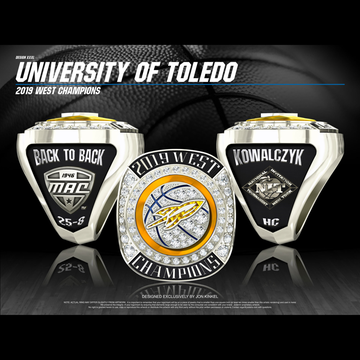 University of Toledo Men's Basketball 2019 MAC West Championship Ring