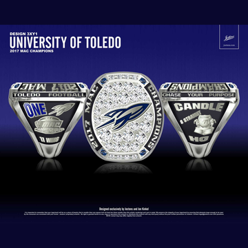 University of Toledo Men's Football 2017 MAC Championship Ring