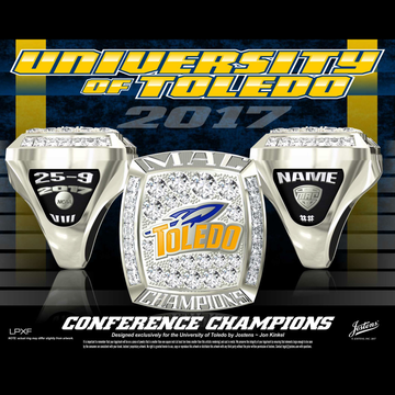 University of Toledo Women's Basketball 2017 MAC Championship Ring