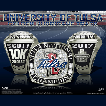 University of Tulsa Men's Track & Field 2017 National Championship Ring