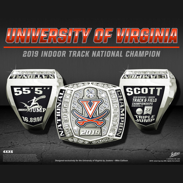 University of Virginia Men's Track & Field 2019 National Championship Ring