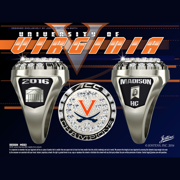 University of Virginia Women's Field Hockey 2016 ACC Championship Ring