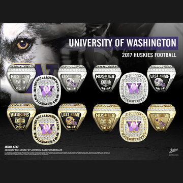 University of Washington Men's Football 2017 Fiesta Bowl Championship Ring