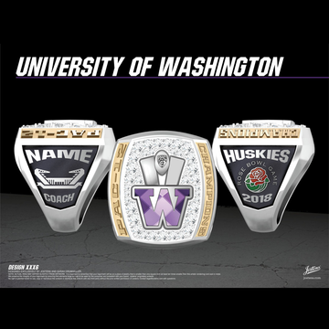 University of Washington Men's Football 2018 Pac-12 Championship Ring