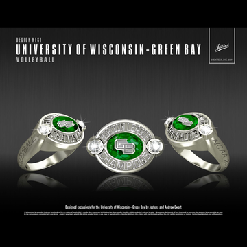 University of Wisconsin-Green Bay Women's Volleyball 2018 Horizon League Championship Ring