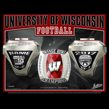 University of Wisconsin Men's Football 2017 Orange Bowl Championship Ring