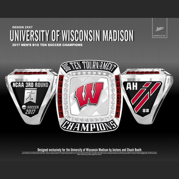 University of Wisconsin Men's Soccer 2017 Big Ten Tournament Championship Ring