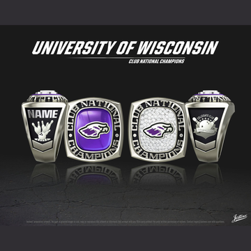University of Wisconsin Whitewater Men's Bowling 2019 National Championship Ring
