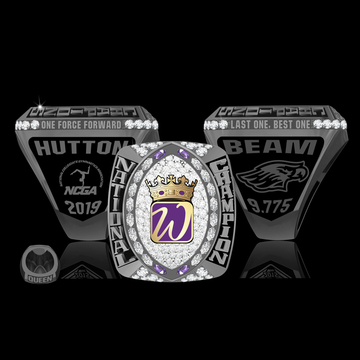 University of Wisconsin Whitewater Women's Gymnastics 2019 National Championship Ring
