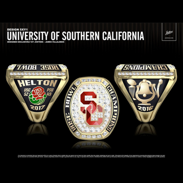 USC Men's Football 2016 Rose Bowl Championship Ring