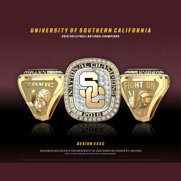 USC Men's Water Polo 2016 National Championship Ring