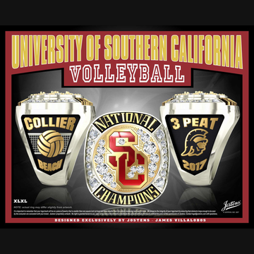 USC Women's Beach Volleyball 2017 National Championship Ring
