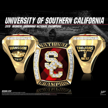 USC Women's Swimming & Diving 2019 National Championship Ring
