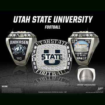 Utah State University Men's Football 2018 New Mexico Bowl Championship Ring