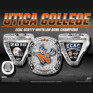Utica College Men's Football 2018 ECAC Bowl Championship Ring