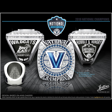 Villanova University Men's Basketball 2018 National Championship Ring