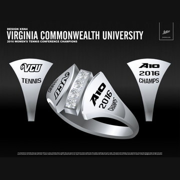Virginia Commonwealth University Women's Tennis 2016 Atlantic 10 Championship Ring