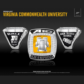 Virginia Commonwealth University Men's Golf 2016 A-10 Championship Ring