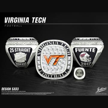 Virginia Tech Men's Football 2017 Camping World Bowl Championship Ring