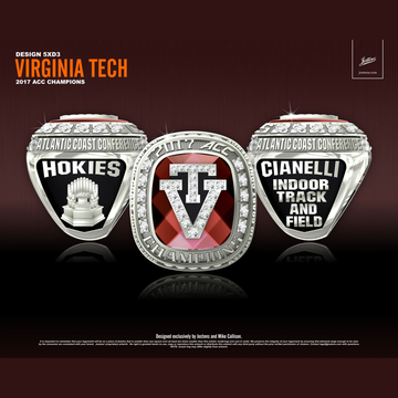Virginia Tech Men's Track & Field 2017 ACC Championship Ring