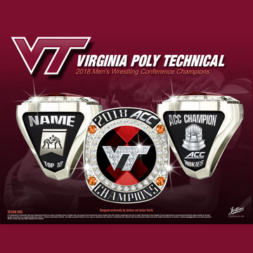 Virginia Tech Men's Wrestling 2018 ACC Championship Ring