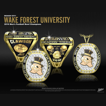 Wake Forest University Men's Football 2016 Military Bowl Championship Ring