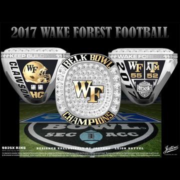 Wake Forest University Men's Football 2017 Belk Bowl Championship Ring