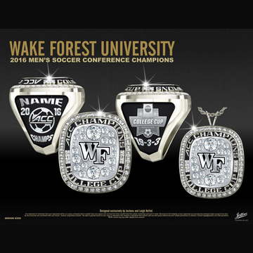 Wake Forest University Men's Soccer 2016 ACC Championship Ring