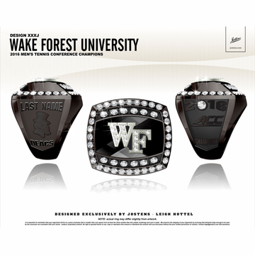 Wake Forest University Men's Tennis 2016 ACC Championship Ring