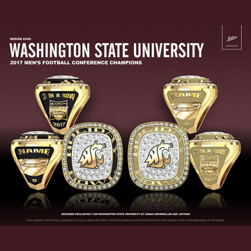 Washington State University Men's Football 2017 Holiday Bowl Championship Ring