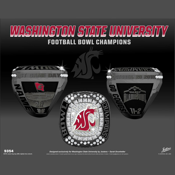 Washington State University Men's Football 2018 Alamo Bowl Championship Ring