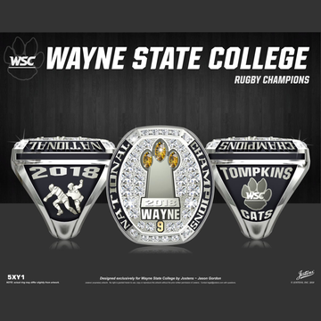 Wayne State College Women's Rugby 2018 National Championship Ring