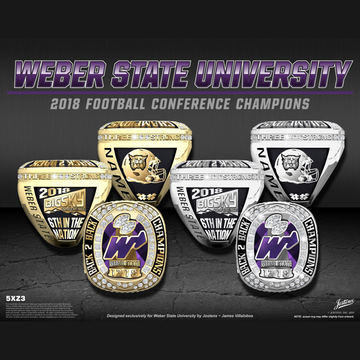 Weber State University Men's Football 2018 Big Sky Championship Ring