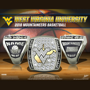 West Virginia University Men's Basketball 2018 Sweet Sixteen Championship Ring
