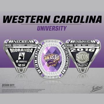 Western Carolina University Men's Baseball 2016 SoCon Championship Ring