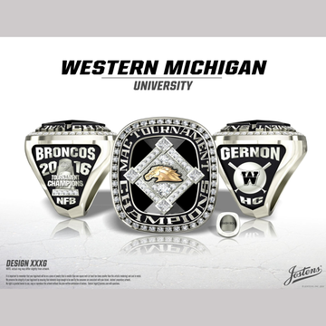 Western Michigan University Men's Baseball 2016 MAC Championship Ring