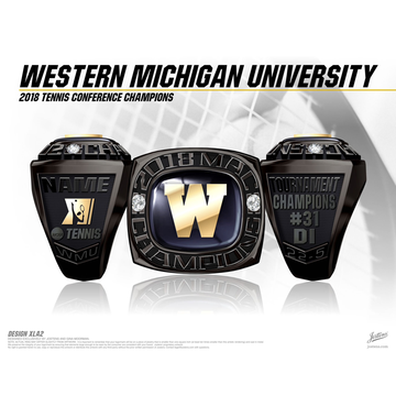 Western Michigan University Men's Tennis 2018 MAC Championship Ring