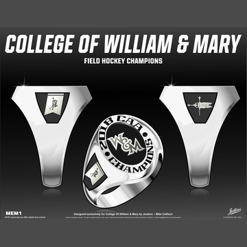 William & Mary Women's Field Hockey 2018 CAA Championship Ring