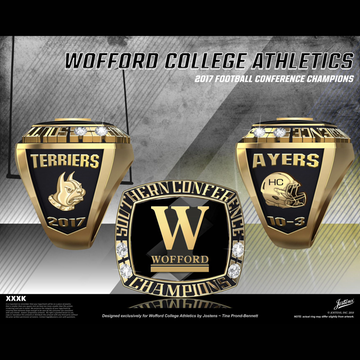 Wofford College Men's Football 2017 SoCon Championship Ring
