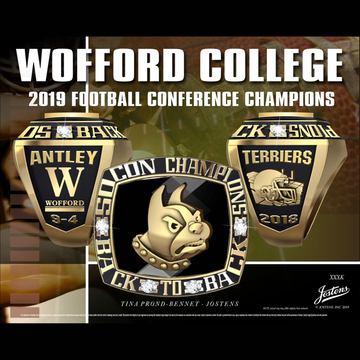 Wofford College Men's Football 2018 SoCon Championship Ring