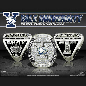 Yale University Men's Lacrosse 2018 National Championship Ring