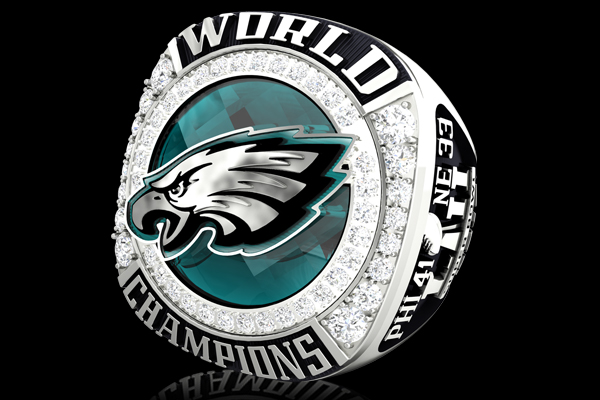 In Honor Of Eagles Fans Across The Region Country And World Words From Team S Fight Song Fly Are Written On Bottom Outer