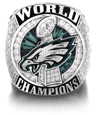 3e416ed00f334 The Philadelphia Eagles Super Bowl LII Championship Ring - front view