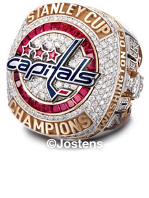 The Washington Capitals 2018 Stanley Cup Championship Ring Front view