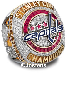 The Washington Capitals 2018 Stanley Cup Championship Ring - Top View