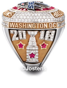 The Washington Capitals 2018 Stanley Cup Championship Ring - Right Side View