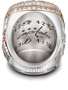 The Washington Capitals 2018 Stanley Cup Championship Ring - Ring Interior