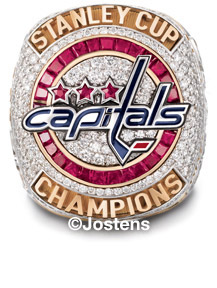 The Washington Capitals 2018 Stanley Cup Championship Ring - Front view