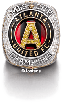 Atlanta United Player's Ring front side view